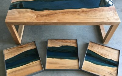 Table epoxy : l'incroyable River Table